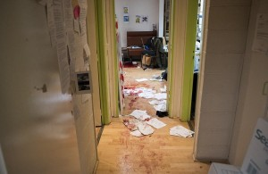 Charlie Hebdo offices after terror attack.